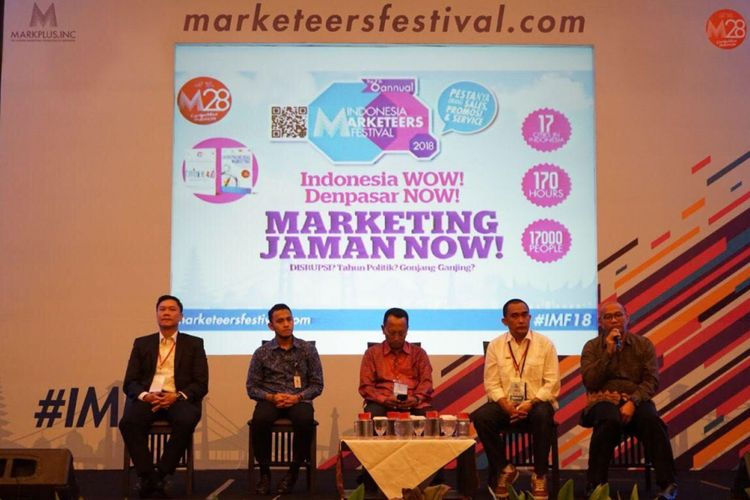 Plh Dir Promosi dan Humas BP Batam Ady Sorgiharto menjadi panelis di Indonesia Marketeers di Bali yang berlangsung 25-26 April 2018.
