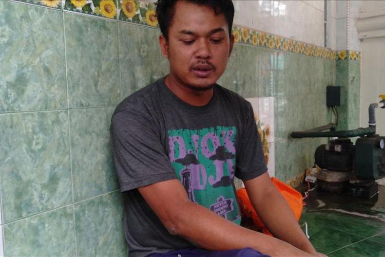Bahtiar (36) saat ditemui di masjid Mapolres Metro Jakarta Selatan, Selasa (13/8/2019)