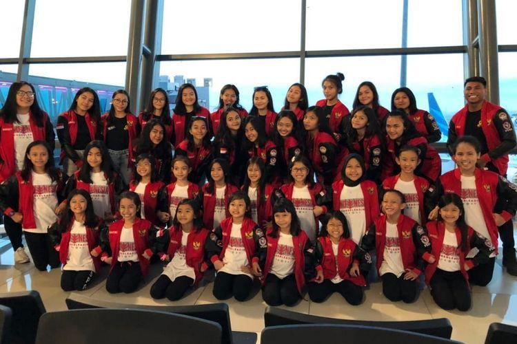 Atlet pemandu sorak (cheerleader) Federasi Cheerleading Seluruh Indonesia (FCSI) berjaya di Jepang.