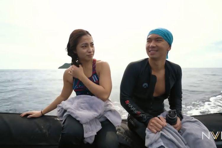 Nikita Willy dan Indra Priawan selepas diving di Raja Ampat. (Bidikan layar YouTube Nikita Willy Official).