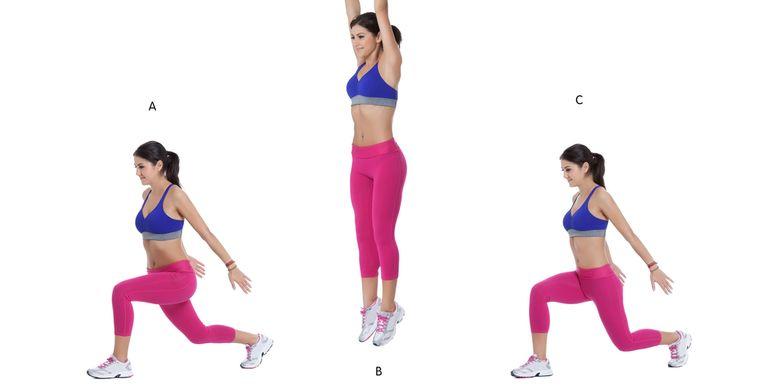 ilustrasi lunge jump