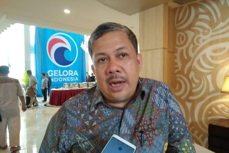 Inisiator Partai Gelora Fahri Hamzah di di Hotel Regis Arion, Jakarta Selatan, Sabtu (9/11/2019).