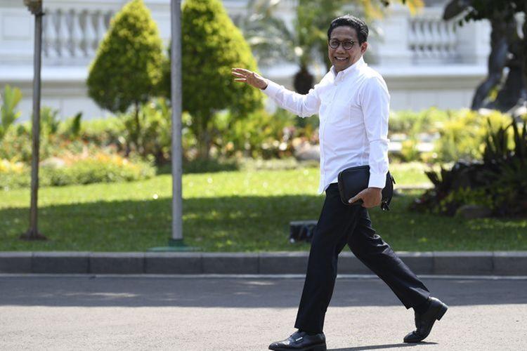 Politisi PKB Abdul Halim Iskandar tiba di Kompleks Istana Kepresidenan di Jakarta, Selasa (22/10/2019). (ANTARA FOTO/PUSPA PERWITASARI)