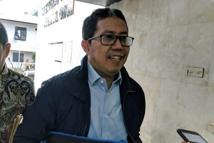 Mantan Plt Ketua Umum PSSI hadiri pemeriksaan keempatnya sebagai tersangka di Mapolda Metro Jaya rabu (6/3/2019)