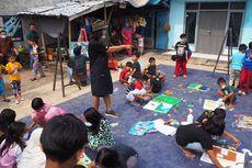 Rajut Ikatan Sosial, Kolaborasi Anak dan Seniman Ini Hasilkan Puluhan Lukisan