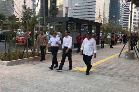 Ini Kata Jokowi Setelah Jalan Kaki di Trotoar Sudirman-Thamrin