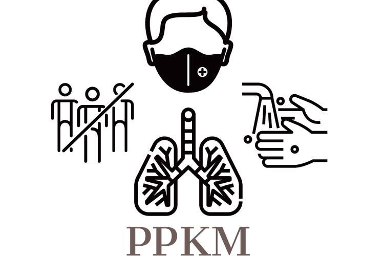Ilustrasi PPKM Level 4