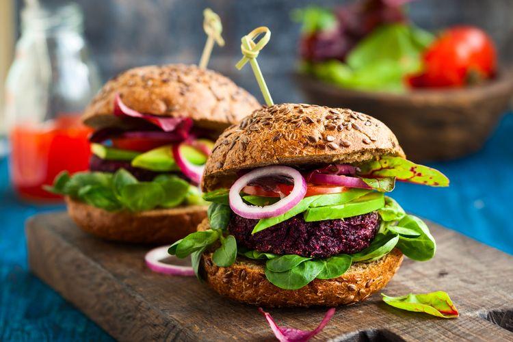 Ilustrasi burger vegan