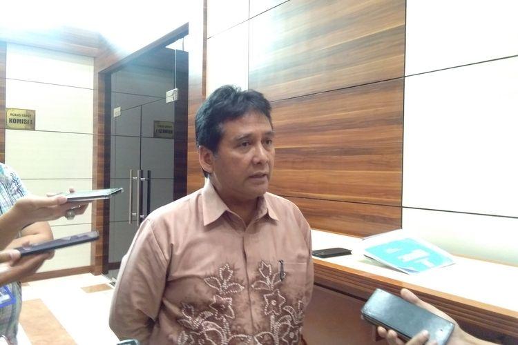 Ketua Asoiasi Pengusaha Indonesia (Apindo), Hariyadi Sukamdani ditemui di Gedung DPR RI, Jakarta, Senin (3/2/2020).
