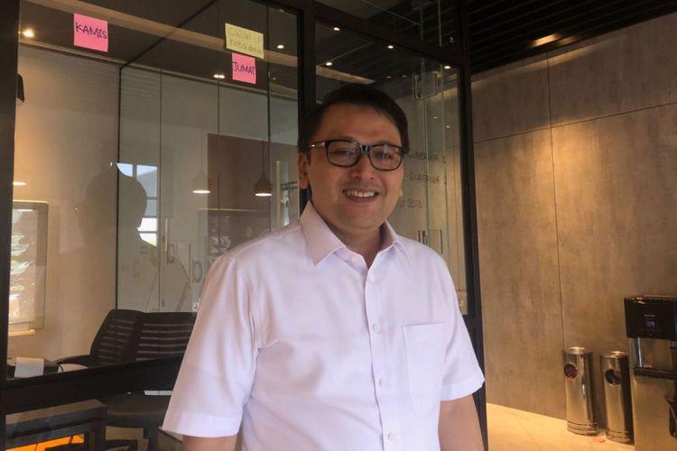 Ketua Tim Gubernur untuk Percepatan Pembangunan Amin Subekti di Balai Kota DKI Jakarta, Jalan Medan Merdeka Selatan, Jumat (16/3/2018).
