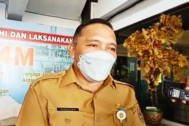 Plh Wali Kota Banjarmasin, Mukhyar memberikan keterangan kepada wartawan terkait pelarangan mudik ASN, Selasa (30/3/2021).