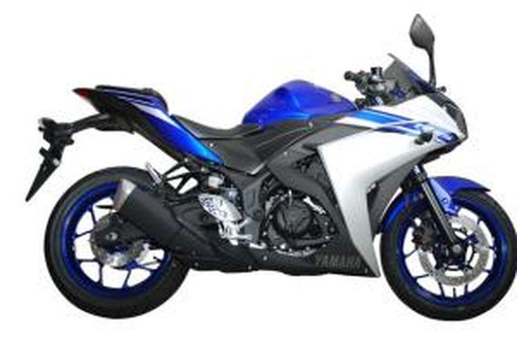 Warna biru R25 dengan tampilan baru.