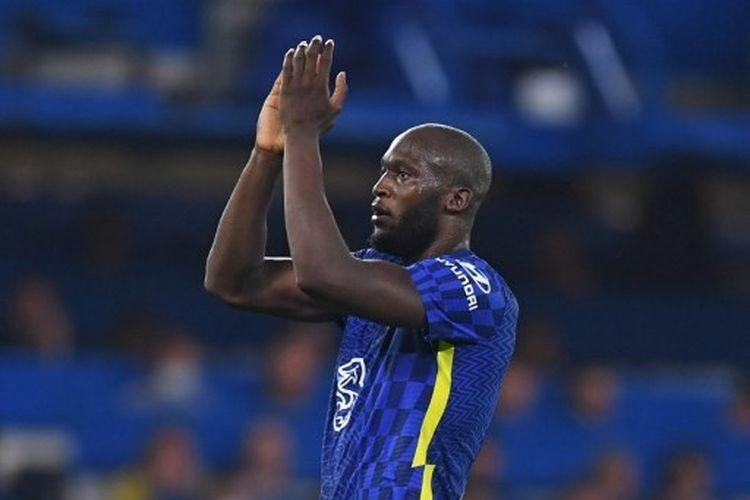Striker Chelsea, Romelu Lukaku, keluar sebagai pahlawan usai mengantarkan Chelsea menang 1-0 atas Zenit pada babak penyisihan Grup H Liga Champions, Rabu (15/9/2021) dini hari WIB.