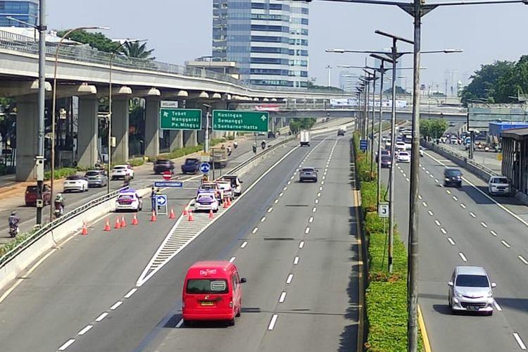 Titik penyekatan jalan tol Jasa Marga Group