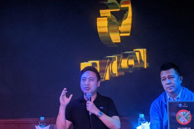 Konferensi pers Black Owl, Pantai Indah Kapuk, Penjaringan, Jakarta Utara, Senin, (17/2/2020)