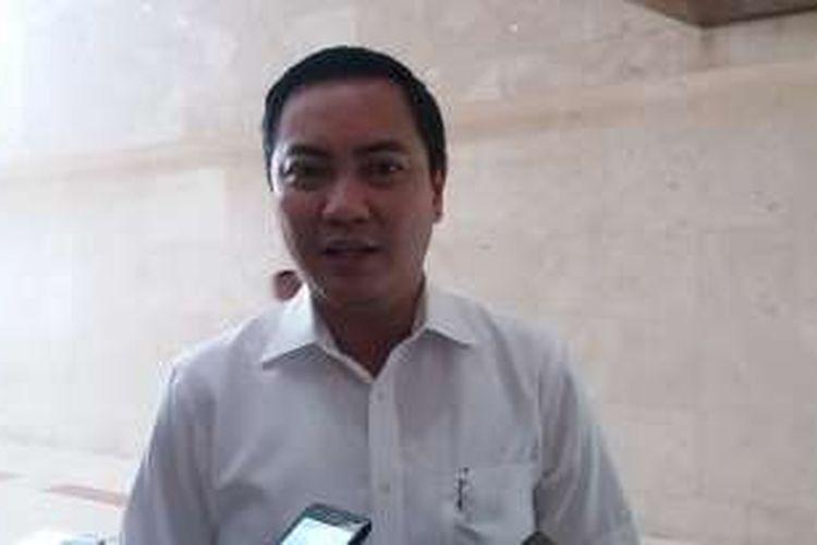 Ketua DPD Golkar DKI Jakarta Fayakhun Andriadi di Kompleks Parlemen, Senayan, Jakarta, Selasa (13/9/2016)