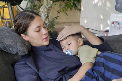 Cerita Paula Saat Kiano Terkena Flu Singapura, Tak Mau Makan dan Minum Susu Selama 3 Hari