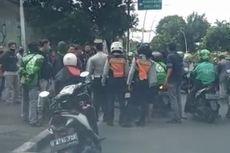 Marah Pentil Motor Dicabut Saat Parkir Liar, Sopir Ojol Cekcok dengan Petugas Dishub di Bulungan