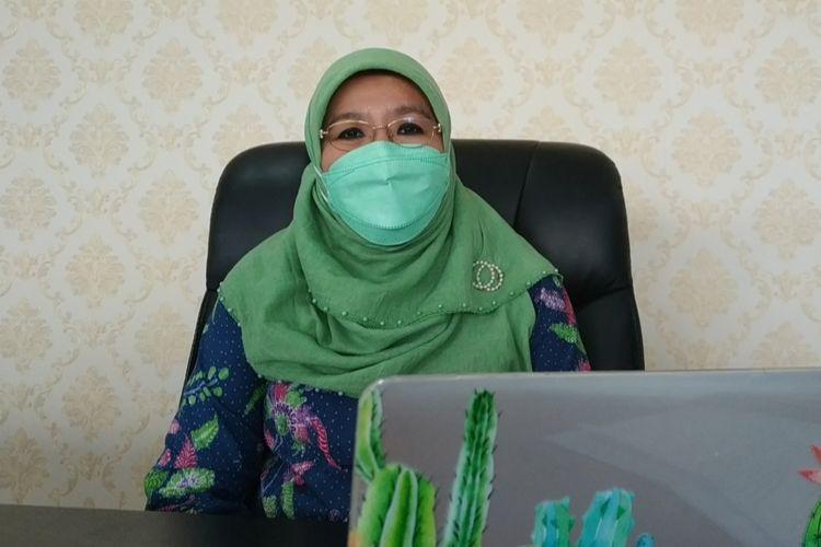 Direktur Pencegahan dan Pengendalian Penyakit Menular Langsung Kementerian Kesehatan (Kemenkes) Siti Nadia Tarmizi saat dijumpai di Kantornya, Selasa (20/4/2021).