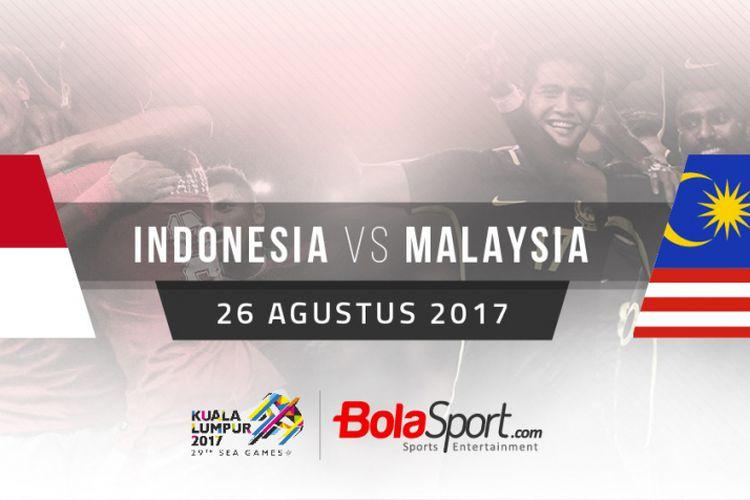 Indonesia dan Malaysia akan bertemu di semifinal cabang sepak boal SEA Games 2017.