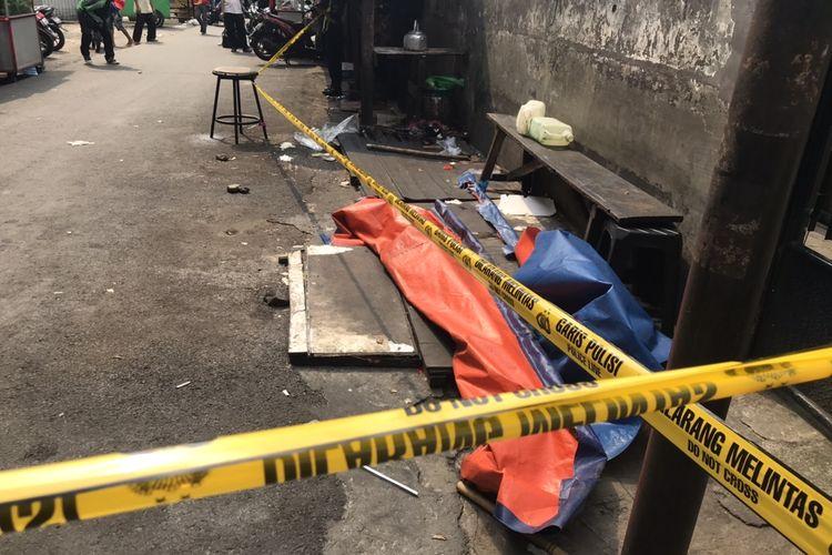 Tempat penemuan potongan kaki di belakang Mal Ambassador di Jalan Pedurenan Masjid, Karet Kuningan, Setiabudi, Jakarta Selatan pada Senin (22/3/2021) siang.