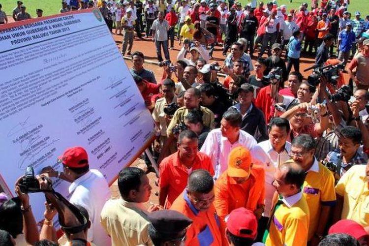 Ilustrasi kampanye pilkada di Maluku.