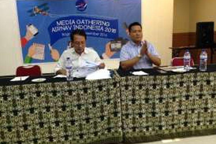 Direktur Operasional Airnav, Wisnu Darjon dalam Media Gatherin di Bogor (29/12)