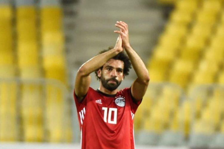 Mohamed Salah dalam pertandingan Kualifikasi Piala Afrika antara timnas Mesir lawan Niger di Stadion Borg el-Arab, Alexandria, 8 September 2018.