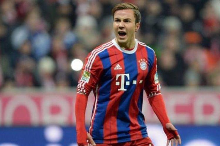 Gelandang Bayern Muenchen, Mario Goetze.