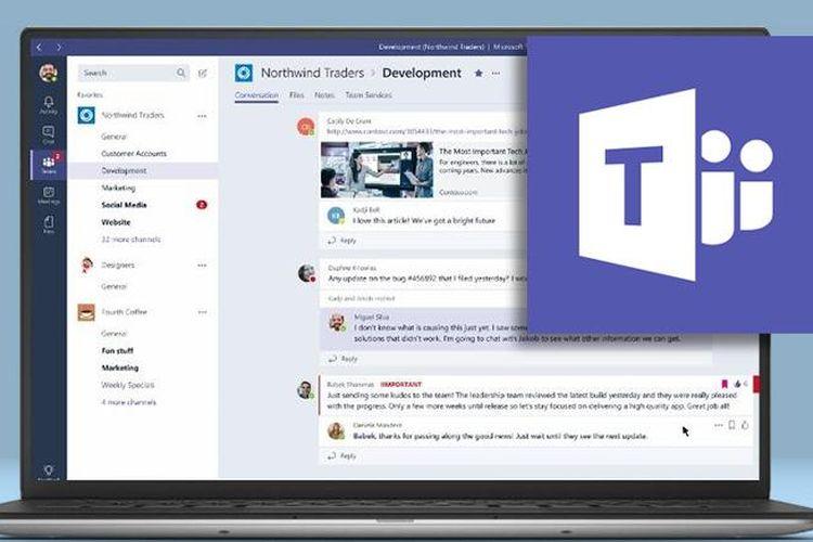 Ilustrasi Microsoft Team