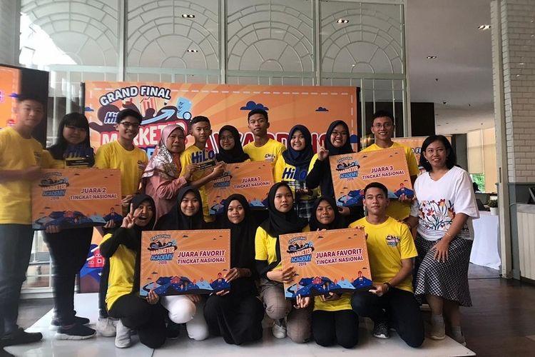 Para pemenang Hilo Marketing 2019 di tingkat SMA/SMK.