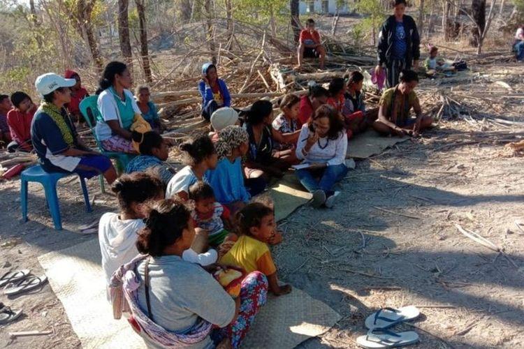 Nikodemus Manao menyebut banyak anak-anak dan perempuan Besipae trauma dengan insiden Selasa (18/08) lalu.