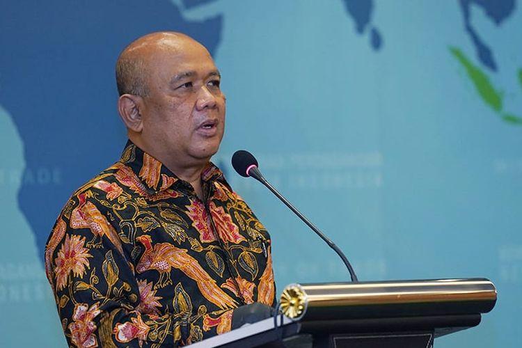 Menteri Perdagangan Agus Suparmanto saat meluncurkan Peraturan Menteri Perdagangan (Permendag) Nomor 92 Tahun 2020 tentang Perdagangan Antarpulau di Kantor Kementerian Perdagangan, Jakarta, Kamis (10/12/2020).