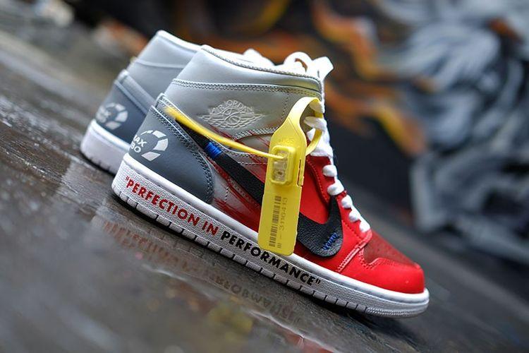 Sneakers kolaborasi Pertamax Turbo dengan Never Too Lavish.