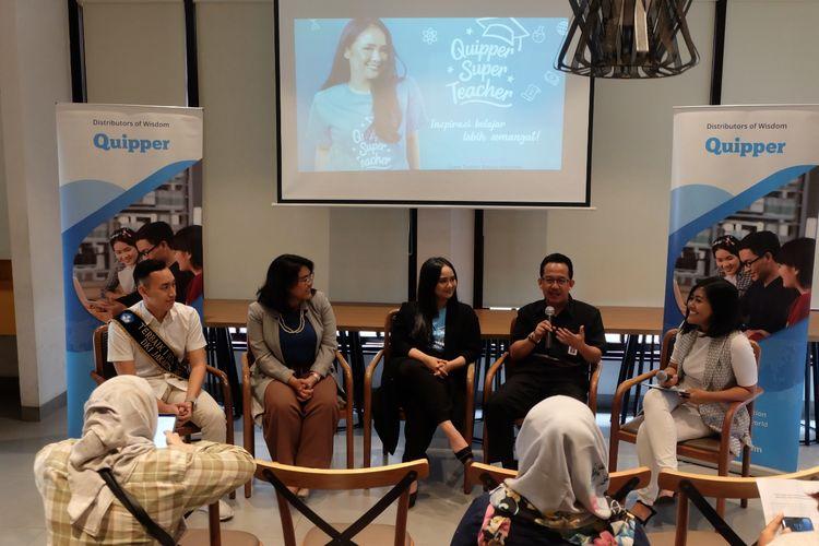 Quipper Indonesia memperkenalkan Gita Gutawa sebagai salah satu Super Teacher yang akan mengajar Bahasa Indonesia dalam platform video edukatif.