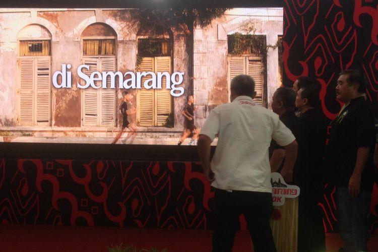 Launching Semarang 10K di kawasan wisata Kota Lama Semarang, Jumat (3/8/2018). Kegiatan Semarang 10K bekerjasama dengan Harian Kompas untuk promosi olahraga dan wisata