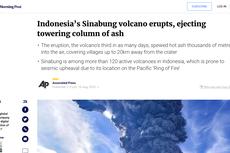 Begini Media Asing Beritakan Erupsi Gunung Sinabung Hari Ini