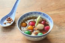Resep Ronde Isi Kacang Gula Merah dengan Kuah Jahe