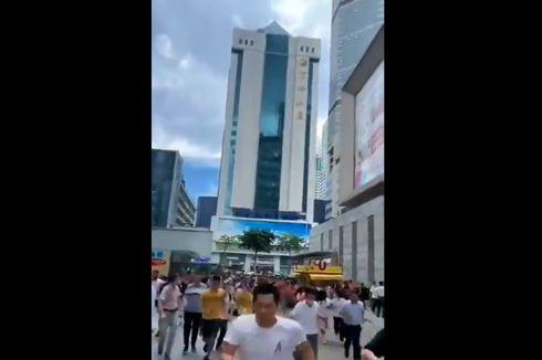Gedung Pencakar Langit di China Tiba-tiba Goyang, Semua Orang Panik Berlarian