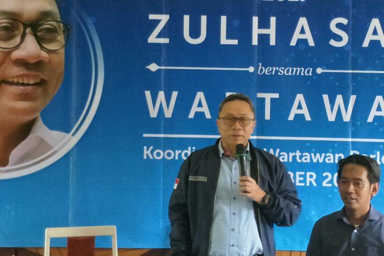 Ketua Umum PAN Zulkifli Hasan di Jakarta, Jumat (29/12/2017)