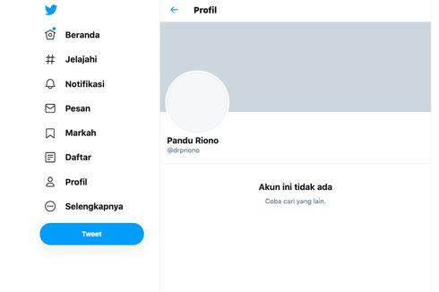 Akun Twitter Ahli Epidemiologi UI Pandu Riono Diretas