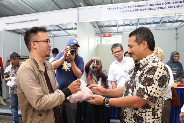 Kementerian Perdagangan menggelar Bazar Ramadan pada 30 dan 31 Mei 2018 di lingkungan kantor Direktorat Metrologi Kementerian Perdagangan, Bandung, Jawa Barat.