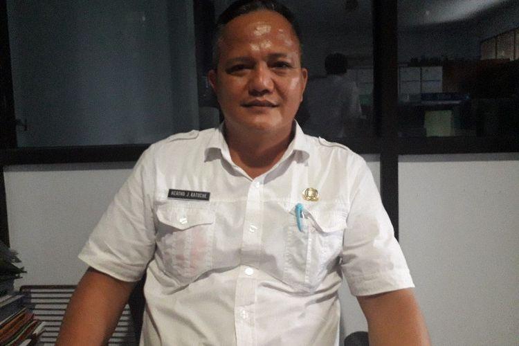 Kepala Sub Bagian Umum dan Perlengkapan RSJ Ratumbuysang Hertho Katuche, saat diwawancara Kompas.com, di ruang kerjanya, Rabu (30/01/2019).
