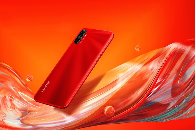 Realme C3 varian Blazing Red.