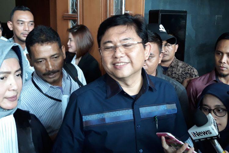 Advokat Lucas di Pengadilan Tipikor Jakarta, Rabu (7/11/2018).
