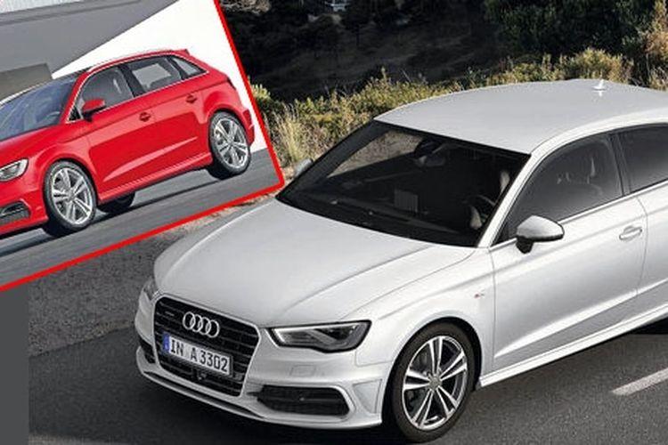 Audi A3 Sportback (bawah) akan dijadikan basis MPV 7-seater (atas/ insert).