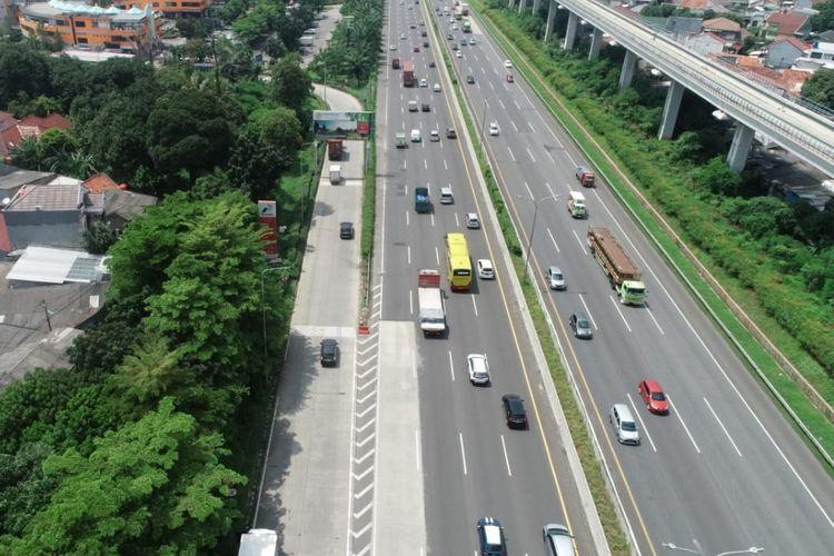 Rawan padat, Jasa Marga gelar uji coba rekayasa lalu lintas di KM 10 Tol Jagorawi