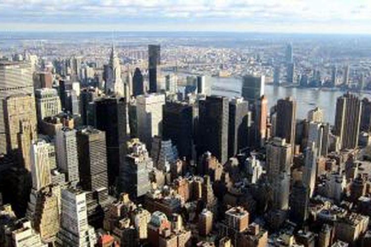 Manhattan, New York, AS, bersiap mengahadapi gelembung properti.