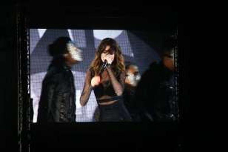 Selena Gomez beraksi dalam konser bertajuk Revival Tour di Indonesia Convention Exhibition (ICE) BSD, Tangerang Selatan, Banten, Sabtu (23/07/2016). Dia menyanyikan sebanyak 21 lagu untuk menghibur para Selenator (fans Selena Gomez).