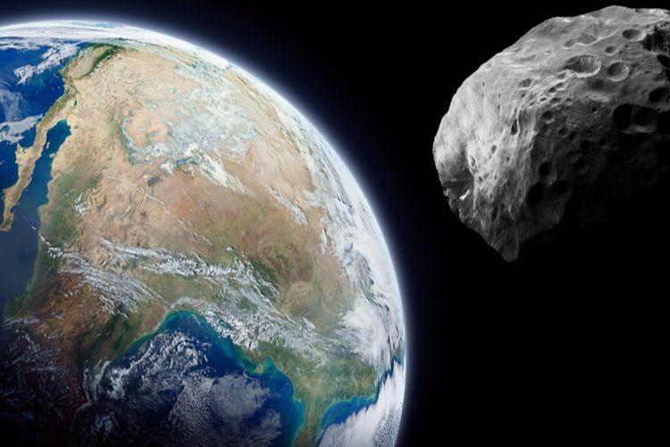 An asteroid heading towards the Earth